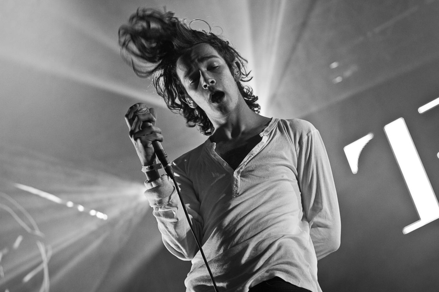 Matthew Healy of The 1975 at Southside Festival in 2014