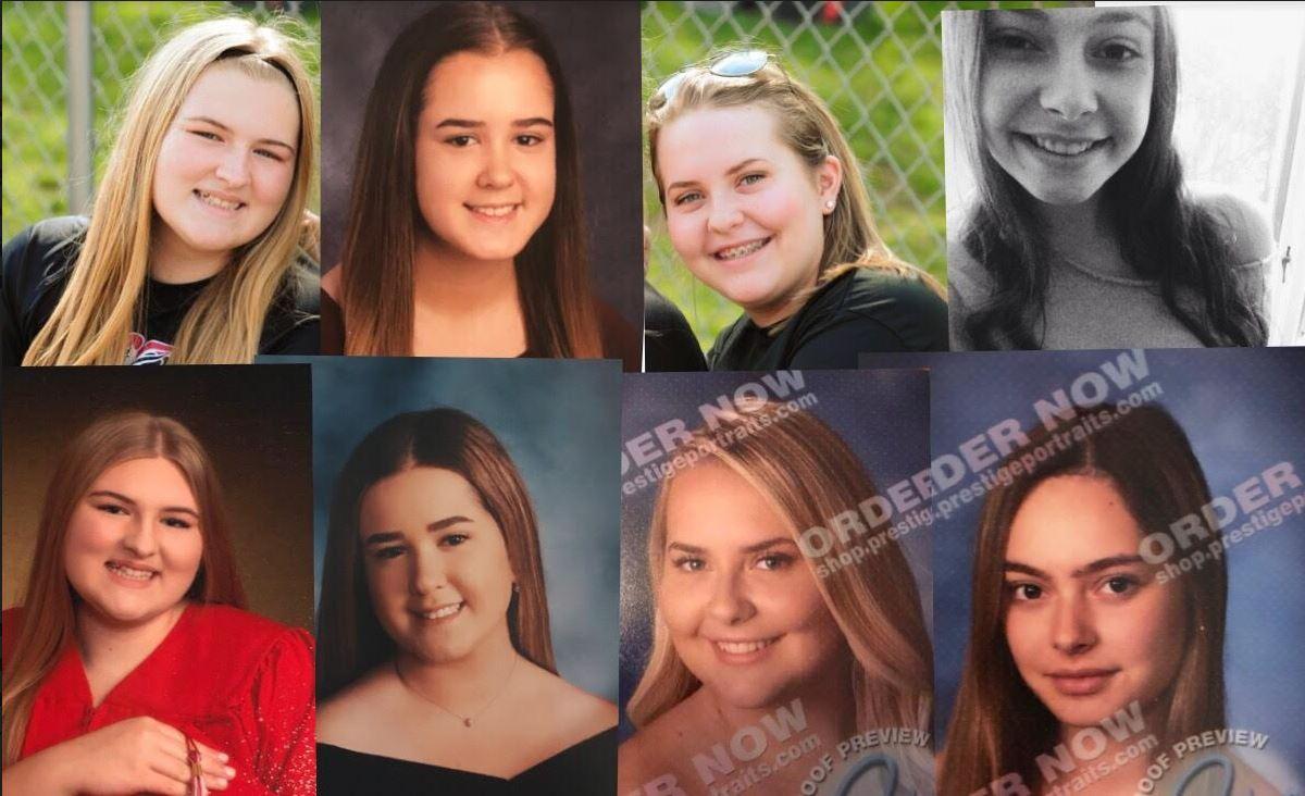 From left to right, freshmen to seniors: Victoria Narbone, Katie Mclaughlin, Carly Entler, and Ledger writer Raina Landolfi