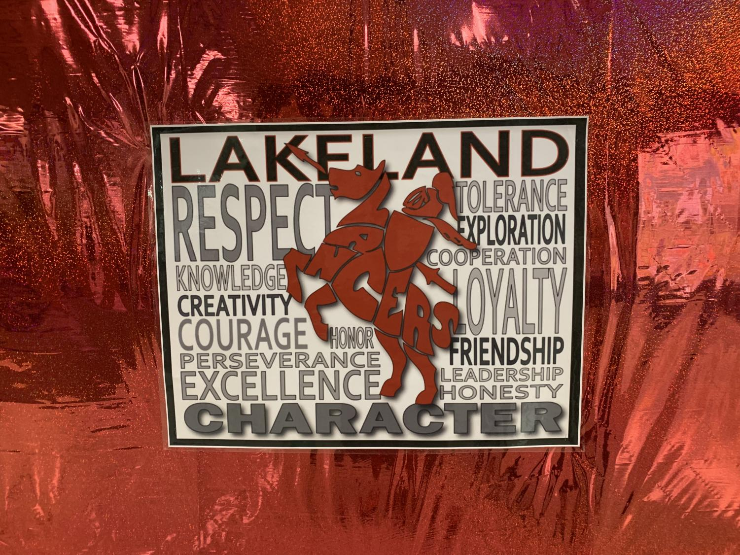 Lakeland's theme for the 2018-2019 school year was to spread kindness and love.