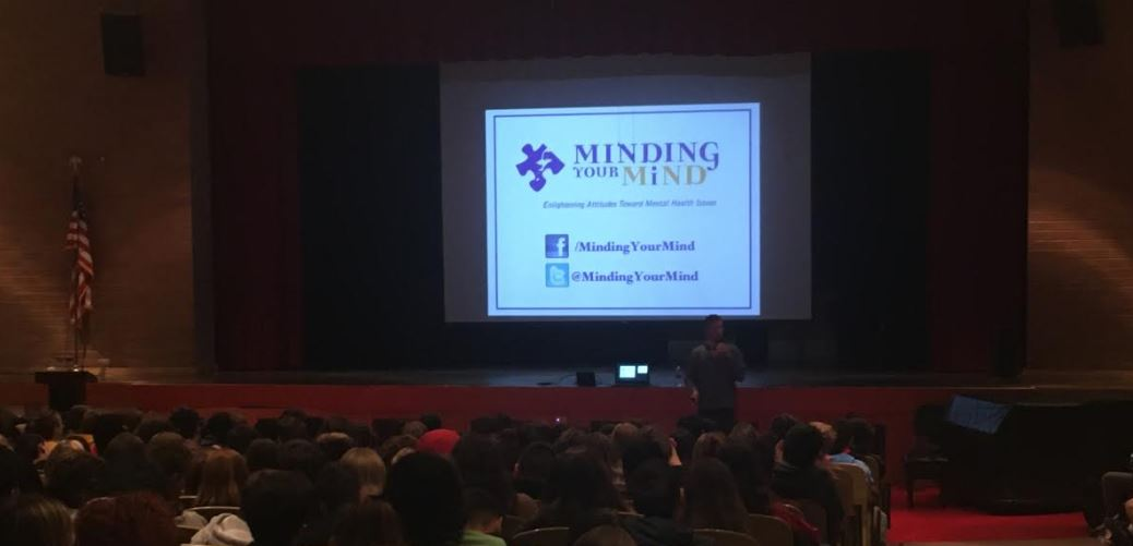 Lucas Wolfe of the Minding Your Mind organization spoke with LRHS students on World Mental Health Day.