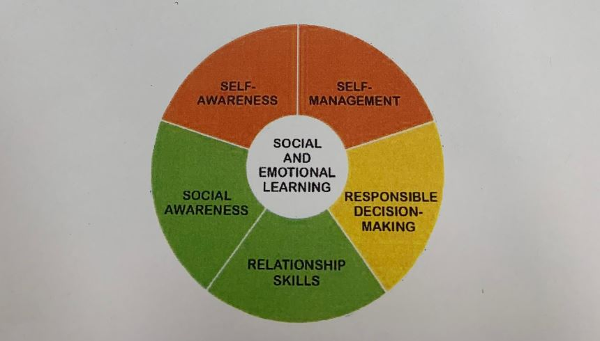 In the state of New Jersey, there are five competencies of SEL: Self-Awareness, Self-Management, Social Awareness, Responsible Decision-Making, and Relationship Skills. The overall district goal was to promote social-emotional well being, while still aligning with these five requirements.