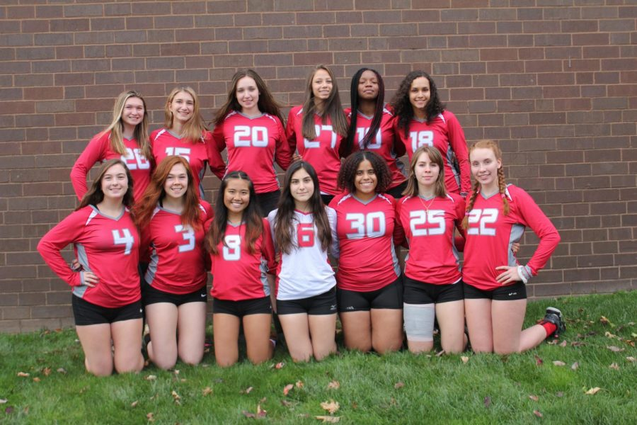 The girls varsity volleyball team had a season of improvement and growth.