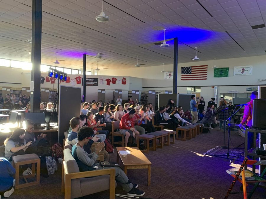 The Lakeland school community came together to enjoy the Coffee House.