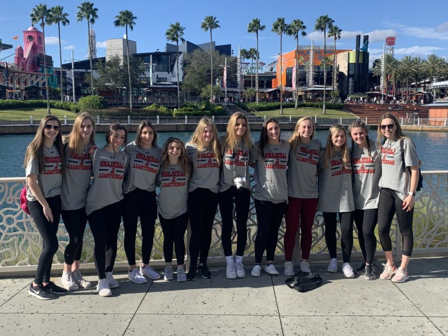 The team enjoying a beautiful day at the famous Universal Studios.
