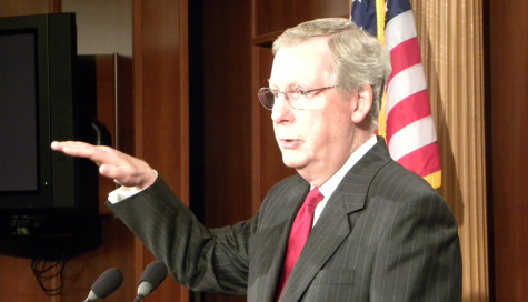 McConnell, pictured here, stated his partisanship to favor Trump in any Senate trial for impeachment.