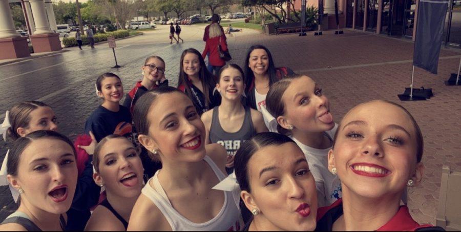 Lakeland Dance Team having a day of fun in Orlando!