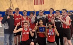 Some of the best boys runners in LRHS history celebrating the state sectional win.