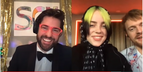 "John Krasinski on ""Some Good News"" with Billie Eilish and FINNEAS."