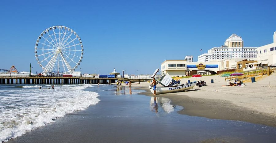 Atlantic City beaches on a beautiful day.