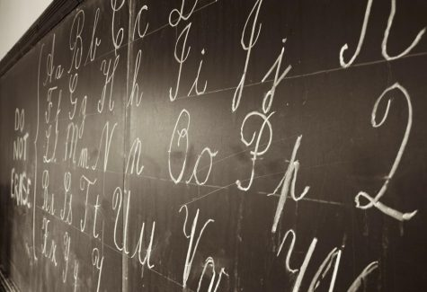 Cursive: a fancier form of hand-writing that is typically used for letters and signatures.