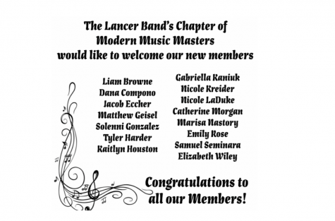 Congrats to the newest members of the Music Honor Society.