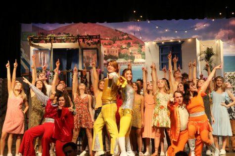 The cast of Mamma Mia, the Trifecta