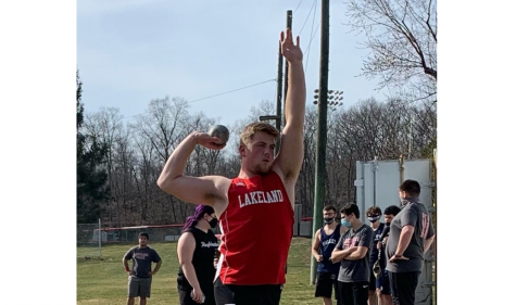 """TJ McCormack broke the winter track shot put record with an amazing throw of 51'1""""."""