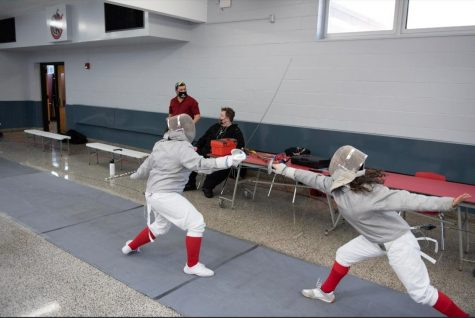 """This year, the fencing team went up against some Goliaths."""""""