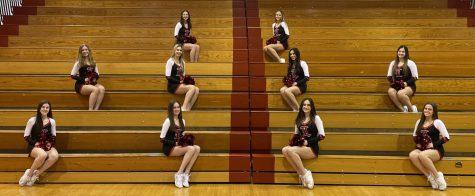 (L to R) Top: freshman Isabella Bozan and sophomore Ava Hahn. Middle: sophomore Paige Kohlhase, juniors Brynn Mahurter, Julia Rifflard, and Olivia Sabatelli. Bottom: sophomore Allison Crone, freshman Keira Welsh, junior Leigha Thompson, sophomore Caitlyn Finn.
