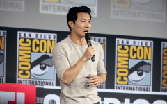 Simu Liu, who will be playing Shang-Chi, speaking at Comic-Con