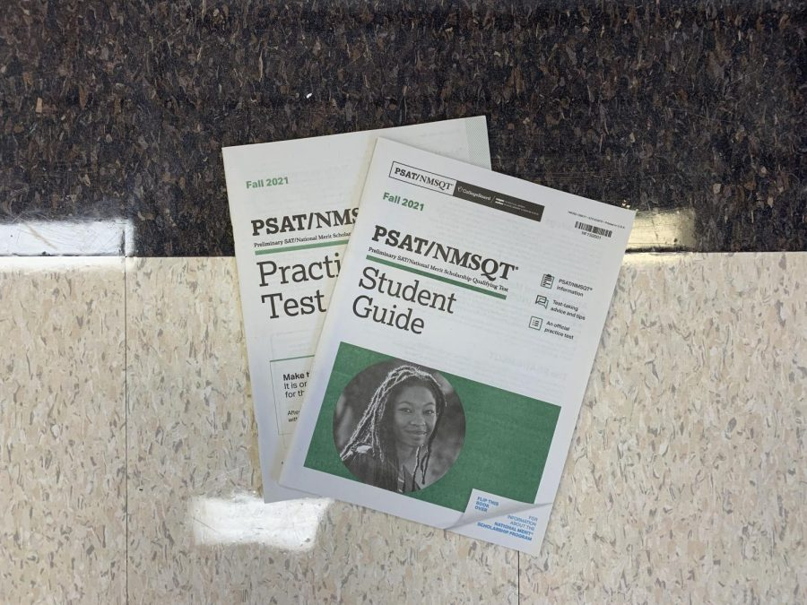 CollegeBoards PSAT Student Guide and Practice Test are available outside of guidance. The PSAT will take place on Wednesday, October 13.